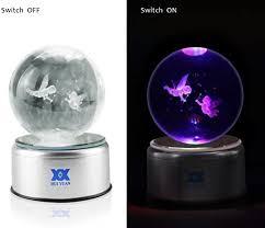 HUI YUAN 3D Crystal Ball LED Pokemon Lamp Engraved <b>K9 Clear</b> ...