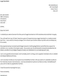 Cover Letter for a Legal Assistant   icover org uk icover org uk