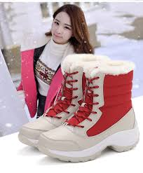 <b>Women boots non slip waterproof</b> winter snow boots women ...