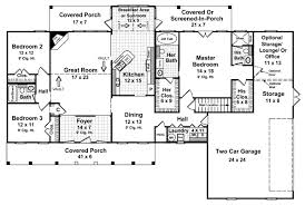 Luxury four bedroom one story house plans    bedroom single story house  Main floor plan