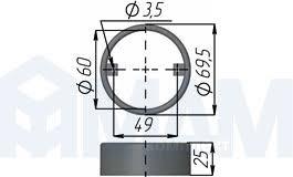 <b>Накладка для</b> врезного светильника FT9251, <b>хром</b> ТС07 04 ...