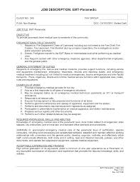 resume for hospital job levine children s paramedic resume cover letter resume for hospital job levine children s paramedic resume description emergency medical technician and