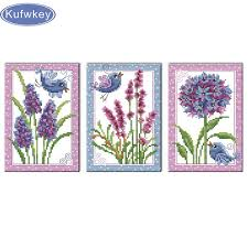 2019 Birds And Flowers <b>Triptych Diamond Painting</b> Full Square ...