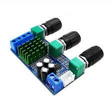 DC 12V-24V <b>TPA3116D2 80Wx2</b> Digital <b>Amplifier Board</b> Treble ...