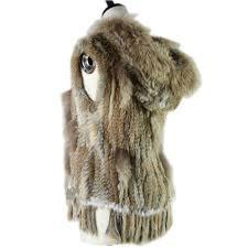 2019 Harppihop <b>Fashion Rabbit Fur Vest</b> Raccoon Fur Trimming ...