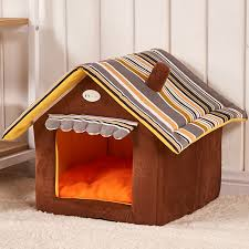 Drop Shipping <b>Pet Dog House</b> Warm And Cozy Cat Bed <b>Striped</b> ...