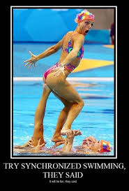 Ouchie, synchronized swimming they said | synchronized swimming ... via Relatably.com