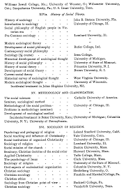 frank tolman the study of sociology in institutions of learning classified lists of courses in sociology