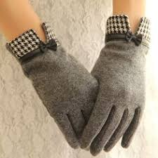 New <b>Women</b> Fashion <b>Wool Cashmere</b> Short Gloves Luxury Brand ...