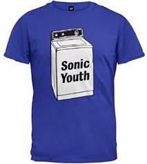 FEA <b>Sonic Youth Washing</b> Machine Mens Blue T Shirt: Amazon.co ...