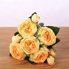 30cm Rose <b>Pink</b> Silk Peony Artificial <b>Flowers</b> Bouquet 5 <b>Big</b> Head ...
