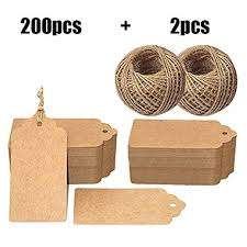 Brown Tags,<b>200 PCS</b> Kraft Paper Gift Tags with String for Christmas ...