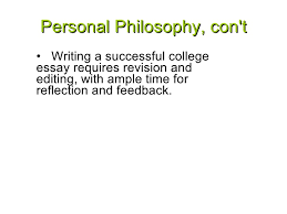 college essay tips by jeanne russell      personal philosophy