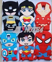 3d cartoon superhero captain iron man batman superman silicone case cover for samsung galaxy note4 n9100 batman superman iron man