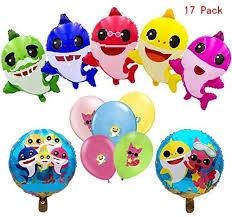 a Banner and <b>3pcs</b> Shark <b>Family</b> Foil Balloons Tuoyi Shark Party ...