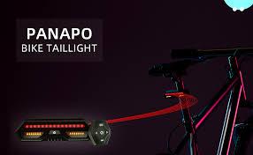 Panapo Bike Tail Light with Turn Signals-Wireless ... - Amazon.com