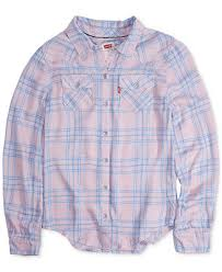 Levi's Toddler <b>Girls Cotton Plaid Shirt</b> & Reviews - <b>Shirts</b> & Tees ...