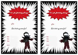ninja warriors birthday invitations birthday printable ninja warriors birthday invitations