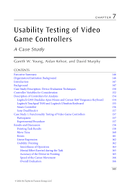 (PDF) Usability Testing of Video <b>Game Controllers</b>: A <b>Case</b> Study