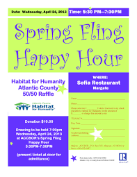 raffle to benefit habitat atlantic county tickets  2013 spring fling flyer