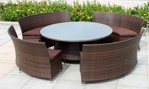 wicker patio set couch chairs table