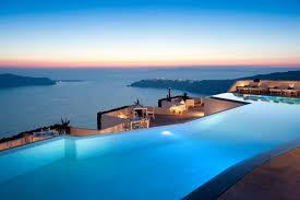 decorating amazing view hotel with infinity pools and outdoor dining set and amazing view of sunset amazing outdoor lighting