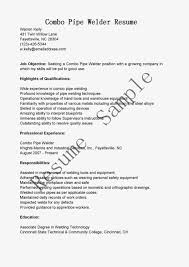combo pipe welder resume sample