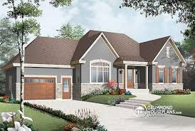 House plan W  V detail from DrummondHousePlans comfront   BASE MODEL Country Rustic style ranch bungalow house plan   open floor plan