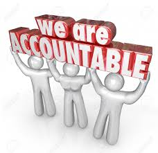 we are accountable d words lifted by a team of people or workers stock photo we are accountable 3d words lifted by a team of people or workers who take responsibility for a business or company doing great work