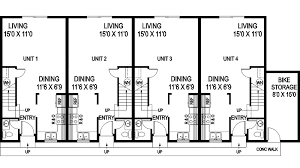 Daisy Fourplex Design Plan D    House Plans and MoreTraditional House Plan First Floor   D    House Plans and More