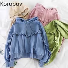 Korobov Korean Preppy <b>Style</b> Women <b>Hoodies</b> Vintage <b>Hooded</b> ...