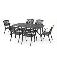 Traditions 9-<b>Piece</b> Aluminum Rectangular Patio Outdoor <b>Dining Set</b> w