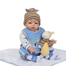 Shop <b>22inch</b> 55cm Reborn <b>Baby Doll</b> Girl PP filling Silicon With ...