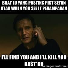 BUAT LU YANG POSTING PICT SETAN ATAU WHEN YOU SEE IT PENAMPAKAN I ... via Relatably.com