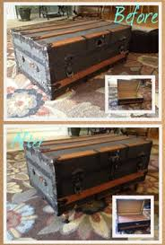room vintage chest coffee table: diy antique trunk coffee table diy antique trunk coffee table diy antique trunk coffee table