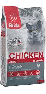 <b>BLITZ</b> сух. <b>корм</b> д/взрослых кошек Курица, <b>BLITZ</b>, заказ, недорого ...