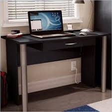 south shore city life wood computer desk in black finish very basic option w basic office desk
