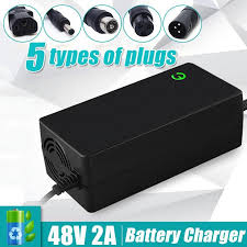 48V 2A Li-Ion <b>Lithium Battery</b> Charger <b>Electric Motorcycle</b> Scooter ...
