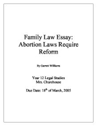 abortion in australia the law and viewpoints   gcse religious  family law essay abortion laws require reform