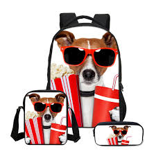 <b>VEEVANV 3pcs Set</b> Shoulder Bags Girls Cute Dog Prints Bag ...