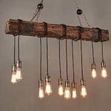46'' 110V Wood Beam <b>Pendant Light Vintage</b> Farmhouse Decor ...