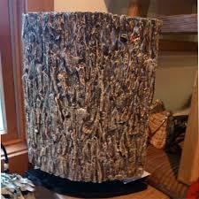 handmade bark covered table lamp medium bark furniture
