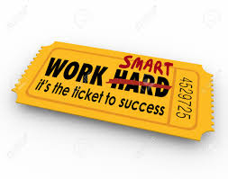 work smart not hard words on ticket to success in career job stock photo work smart not hard words on ticket to success in career job or life