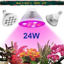 24W <b>E27 LED Grow</b> Lights Panel Lamp for Hydroponic Plant ...