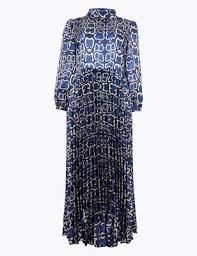 <b>Satin</b> Snakeskin Print <b>Waisted</b> Midi <b>Dress</b> | M&S Collection | M&S