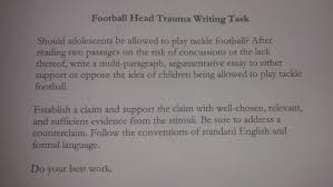 ah english ii mcphee football head trauma writing task