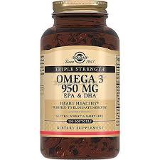 Solgar(<b>Солгар</b>) <b>Тройная Омега-3</b> ЭПК и ДГК капсулы 950 мг 100 шт.