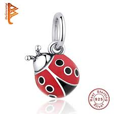 Pukido 925 Sterling Silver Beatles Ladybug Pendant <b>Charm Fit</b> ...