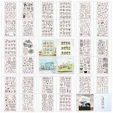 Mixed Cartoon <b>Transparent Silicone Clear Rubber</b> Stamp Sheet ...