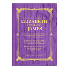 purple and gold wedding invitations & announcements zazzle canada Purple Gold Wedding Invitations purple & gold rustic barn wood wedding invitations cheap purple and gold wedding invitations